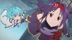 Yuuki (Zekken) and Asuna    Sword Art Online 2, ALO