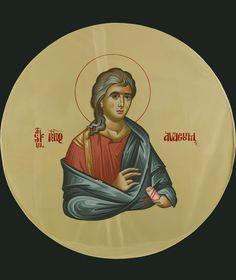 The Holy Prophet Habakkuk 35 cm Byzantine Art, Byzantine Icons, Old Testament, Orthodox Icons, Religious Art, Holi, Christ, Disney Characters, Fictional Characters
