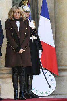 Brigitte Macron (Trogneux) - Les chefs de la délégation et les principaux partenaires du