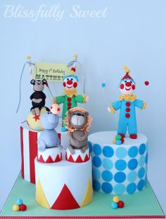 Blissfully Sweet: A Funky Little Circus Cake
