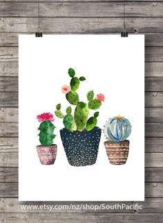 Art de cactus impression Cactus aquarelle Cactus aquarelle