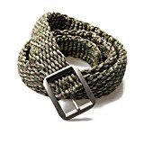 Paracord Double Cobra Weave Belts With Metal Belt Buckle For Outdoors