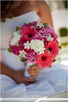 daisy pink rose baby's breath wedding bouquet | bouquet of roses carnations stephanotis with rhinestones baby s breath ...