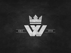 Family crest and logo.I really love this W with the crown concept, but would definitely have to change the year! Wm Logo, Logo Branding, Branding Design, Logo Design, Brand Identity, Family Logo, Family Crest, Casino Logo, Crest Logo