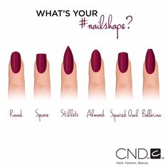 """Which nail is your go-to shape this fall? #manicure #nails #CND"""