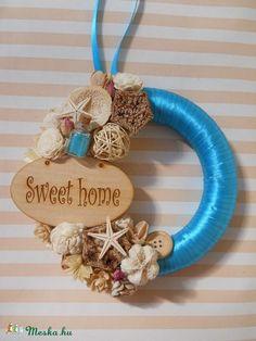 Kék színű nyári kopogtató, Dekoráció, Otthon, lakberendezés, Dísz, Meska Hanukkah, Sweet Home, Wreaths, Ideas, Home Decor, Homemade Home Decor, House Beautiful, Deco Mesh Wreaths, Interior Design