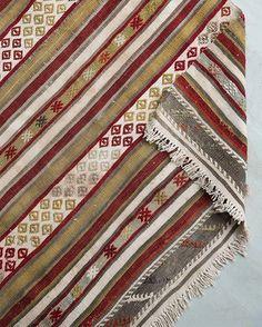 Halvajah kilim with tapestry woven decoration Turkish c.1905 #foundbyhowe  L: 1220mm x D: 640mm