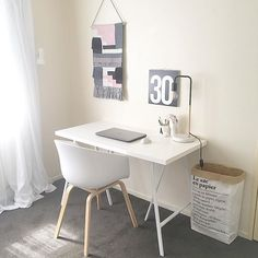 Scandi, scandinavian, minimal, minimalism, minimalist, office, workspace, home office, Le sac en papier, the paper bag, Design letters, kmart, ivoryandnoir on Instagram