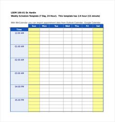 Daily Agenda Template | 10 Free Weekly Schedule Templates For Excel Planner Stuff