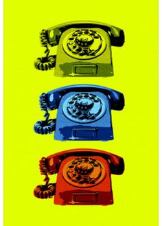 Vintage Rotary Telephone Pop Art Print Poster Print at AllPosters.com