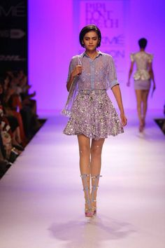 Papa Don't Preach by Shubhika Davda, Ikai by Ragini Ahuja, Quirk Box by Rixi Bhatia and Jayesh Sachdev at Lakme Fashion Week (LFW) 2014 Day . Lakme Fashion Week, India Fashion, Indian Designer Wear, Indian Designers, Travel Workout, Designer Collection, Indian Outfits, Ready To Wear, Sequin Skirt