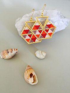 Camp Tutorial and Ideas Seed Bead Jewelry, Bead Jewellery, Seed Bead Earrings, Beaded Earrings, Diy Jewelry, Beaded Jewelry, Handmade Jewelry, Miyuki Beads, Bead Loom Bracelets
