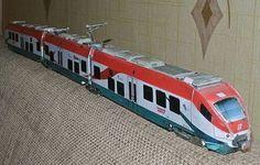 Alstom Minuetto Leonardo Express Free Train Paper Model Download - http://www.papercraftsquare.com/alstom-minuetto-leonardo-express-free-train-paper-model-download.html#187, #Alstom, #H0, #LeonardoExpress, #Minuetto, #Train