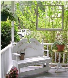 old windows ~ hanging on porch