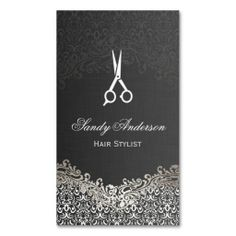 Free hair stylist salon business card template psd free business elegant dark silver damask hair stylist business card cheaphphosting Gallery