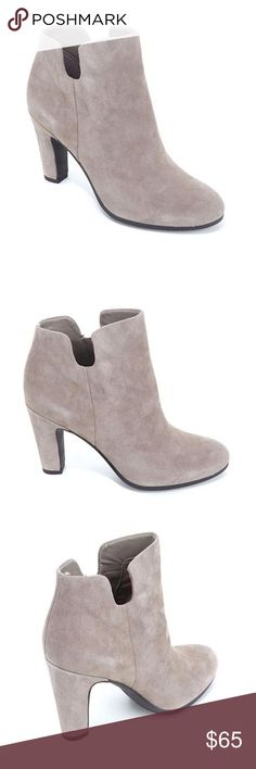 """NEW Sam Edelman Shelby Split Shaft Bootie Boots Brand new with box! Size 5. Retail $160. This smart, simple bootie features an almond toe and a wrapped tapered heel with a notched topline for added interest and a concealed side zipper for easy on and off. 3 1/2"""" heel; 3 1/2"""" shaft (size 8.5) Side zip closure Leather upper and lining/synthetic sole Sam Edelman Shoes Ankle Boots & Booties"""