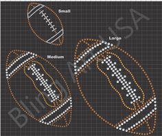 Football Rhinestone Design Pattern File Download