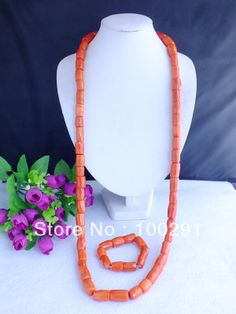Free shipping!!! 2014 African Wedding Design For Men, Coral Beads jewelry set MN-163 $47.36