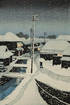 20th Century Japanese Woodcut Print