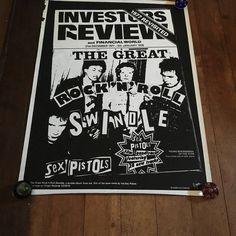 The Sex Pistols  Jamie Reid Virgin Records 1979 Investors Review Original Rare Vintage Screenprint Music Poster by RockPostersTreasures on Etsy