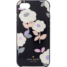 Kate Spade New York Floral Garden Iphone 7 Case ($40) ❤ liked on Polyvore featuring accessories, tech accessories, black and kate spade
