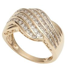 1 Carat of Diamonds 9ct Gold Fancy Dress Ring - Diamond - Rings - Jewellery - The Warehouse