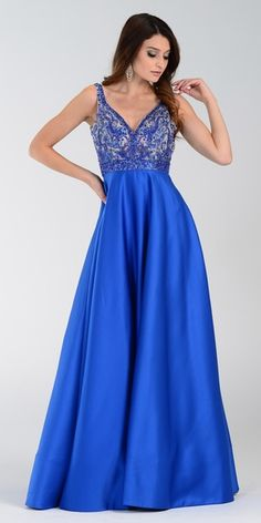 Poly USA 7314 Satin A Line Prom Dress Royal Blue Long V Neck royal blue formal dress / royal wedding dress / wedding royal blue / blue wedding royal / royal blue dress Royal Blue Formal Dresses, Blue Dresses For Women, Burgundy Formal Dress, Sparkly Prom Dresses, A Line Prom Dresses, Pageant Dresses, Satin Dresses, Prom Gowns, A Line Gown