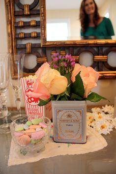 """not your average housewife"" bridal shower decorations: paris tea"