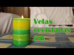Reciclar velas viejas a velas chulísimas, Manualidades Fáciles - YouTube