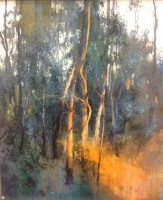 Herman Pekel Title: Warrandyte 75 x 91cm Watercolour Description: Warrandyte Bush