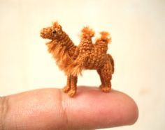 1 Inch Bactrian Camel Amigurumi – Micro Miniature Crochet Stuffed Animals – Made To Order – Monkey Stuffed Animal Crochet Teddy, Crochet Toys, Alpacas, Homemade Stuffed Animals, Bactrian Camel, Tiny Gifts, Miniature Dogs, Crochet Buttons, Tiny Dolls