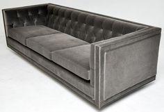Dunbar Tuxedo Sofa Edward Wormley - Tuxedo - Ideas of Tuxedo - I love this design so crisp and masculine! Furniture Logo, Ikea Furniture, Furniture Styles, Home Decor Furniture, Furniture Design, Luxury Furniture, Sofa Design, Best Leather Sofa, Chaise Longue
