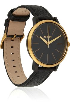 Nixon Kensington. #watch #black #gold