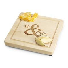 This Mr. and Mrs. Cutting board is a great addition to the couple's new home together. https://www.thingsremembered.com/12-mr-%26-mr-maple-cutting-board/product/335423?fcref=pinterest