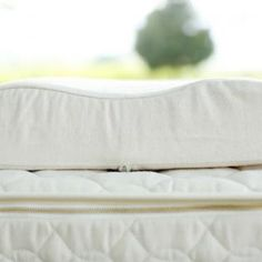The Contour Pillow's hollowed shape offers extra neck support for side sleepers. Medium Dunlop latex with a soft, organic cotton flannel cover. Latex Pillow, Contour Pillow, Natural Contour, Bed Pillows, Organic, Rest, Pillows
