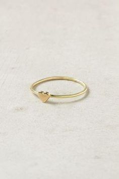 Anthropologie Wee Heart Ring, Brass by Catbird Gold 7 's Rings