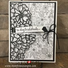 The sale-a-bration inside the lines designer series paper is perfect for coloring but it is also beautiful with the so detailed thinlit dies.