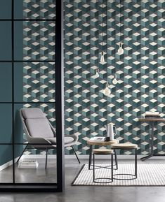 Sansa Collection - Code: 638370 - Modern Wallpapers for home or office - WCI Wallpapers Pty Ltd Modern Wallpaper, Home Wallpaper, Cubes, Wallpaper Suppliers, Sansa, Decoration Design, Architectural Digest, Houzz, Interior Design Inspiration