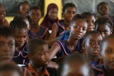 Students at Aberdeen Primary School on June 2015 in Freetown Sierra Leone. Photo © Dominic Chavez/World Bank Absent From School, World Bank Report, Student Enrollment, African Nations, Social Services, Public Health, Primary School, Training Programs, Life Skills