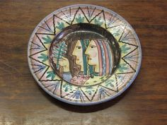 Italian Art Pottery Bowl Vietri Italy Dolker Gambone nr ICS