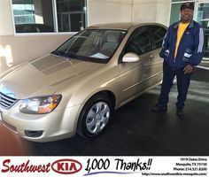 https://flic.kr/p/DzsaVN | Congratulations Amos on your #Kia #Spectra from JERRY TONUBBEE at Southwest Kia Mesquite! | deliverymaxx.com/DealerReviews.aspx?DealerCode=VNDX