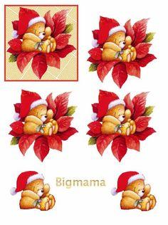 Christmas Sheets, Christmas Topper, 3d Christmas, Christmas Cards To Make, Christmas Clipart, Christmas Animals, Christmas Printables, Xmas Cards, Illustration Noel