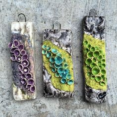 Just opened the kiln to these #lichen pendants. Love it when things turn out how they looked in my head  #handmade #blueberribeads #ceramicbeads