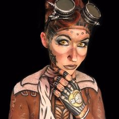 Halloween Steampunk Makeup Men