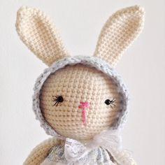 Last little bunny to leave for Easter! #annalinadolls #crochetbunny #crochetdoll