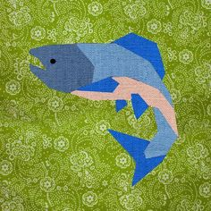 Salmon paper pieced block Pattern