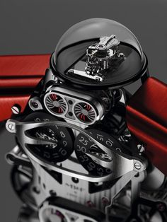In honor of its tenth anniversary, MB&F announces a very special clock at Baselworld Melchior, the 'roboclock' Unusual Watches, Amazing Watches, Fine Watches, Cool Watches, Cartier, Skeleton Watches, Limited Edition Watches, Expensive Watches, Luxury Watches For Men