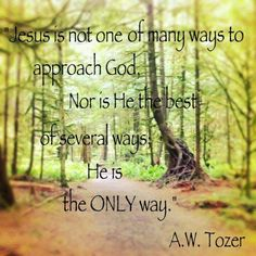 Jesus....the ONLY way.