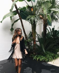 """Miami humid wearing this amazing @shop_alexis fringe jacket to brunch! @revolveclothing #REVOLVEAROUNDTHEWORLD"""