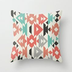 Caleido Triangle Throw Pillow by Karen Hofstetter - $20.00 #colour #pattern #karen_hofstetter http://society6.com/product/Caleido-Triangle_Pillow